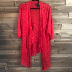 ⭐️ Lane Bryant Sheer Red Cardigan Size 26/28 ⭐️